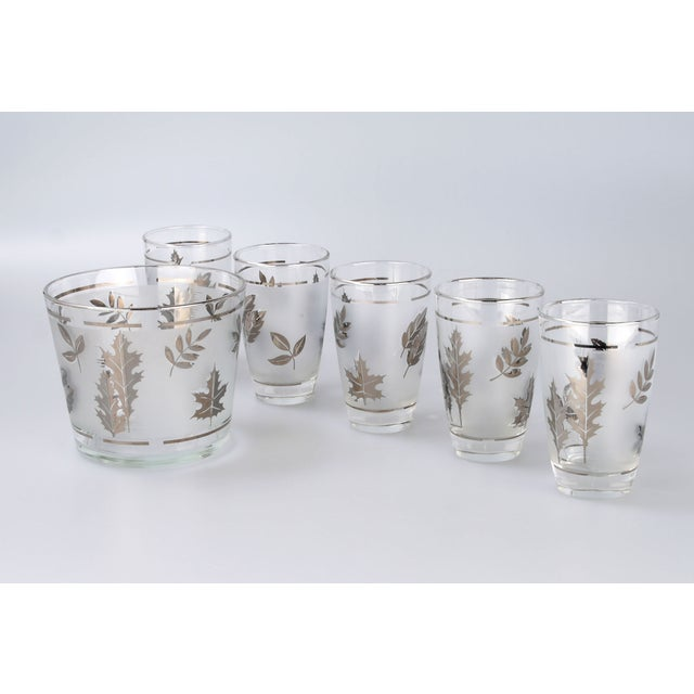Silver Leaf Drinking Glasses Set - Set of 6 - Image 7 of 7