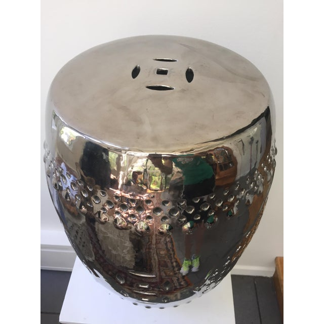 silver asian garden stool chairish