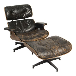 Eames 670/671 Lounge Chair & Rotating Ottoman