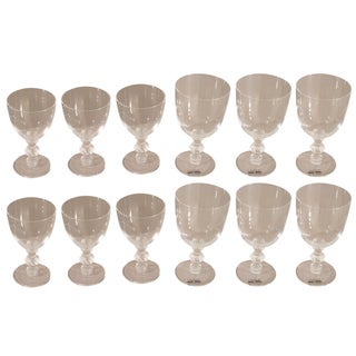 Lalique St. Hubert Pattern Stemware - Set of 12