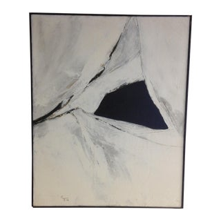 Vintage Black & White Abstract Painting