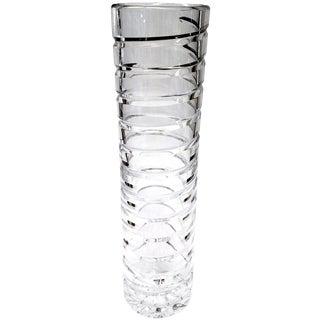 "12"" Crystal Swirl Vase"