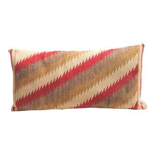 Amazing Navajo Indian Weaving, Streak of Lightning Pattern Bolster Pillow