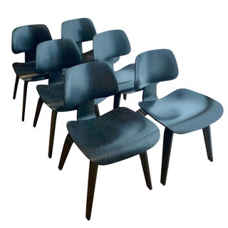 Eames DCW Black Dining Chairs - Set of 6