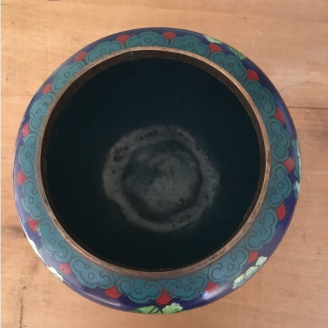 Vintage Cloisonné Bowl With Lid - Image 8 of 11