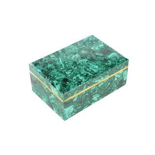Russian Malachite Box Jewelry Box