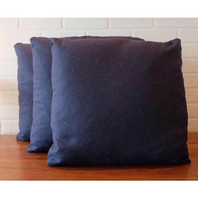 Italian Indigo Wool Pillow Covers - Set of 3 - Image 2 of 3