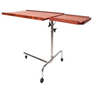 Mid-Century Style Danish Rosewood Adjustable Bedside Service Cart