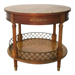 Vintage French Style Bouillotte Gueridon Round Table