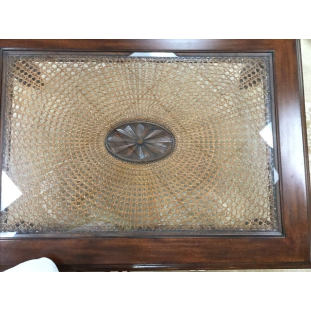 Ethan Allen Coffee Table Glass Top: Ethan Allen British Colonial Coffee Table