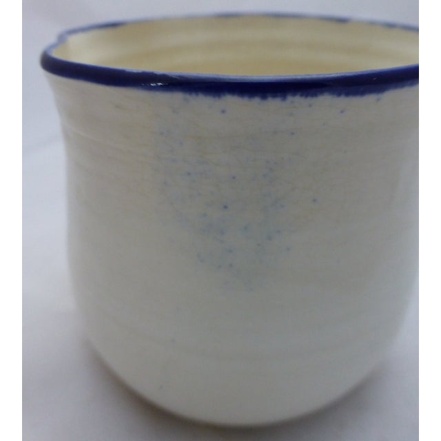 Mid-Century Blue and White Studio Pottery Beaker - Image 4 of 6