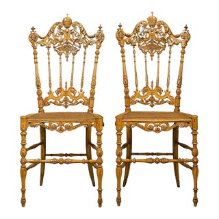 Pope Leo XIII Chiavari Chairs - A Pair