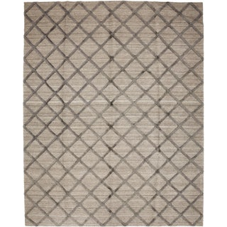 New Contemporary Hand Knotted Area Rug - 8' x 10'