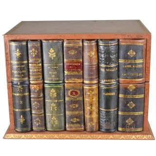 French Leather Book Box