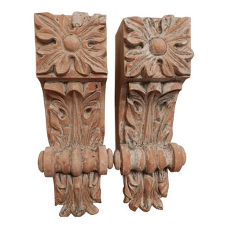 19th Century Wood Corbels - a Pair