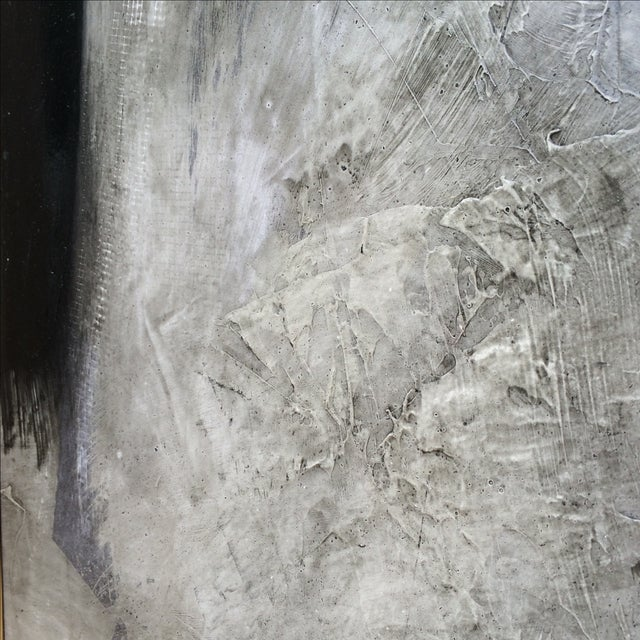 """Image of Graham Harmon Black & White Abstract """"A"""" Painting"""