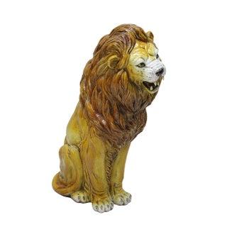 Italian Terracotta Lion Statue