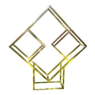 Milo Baughman Brass Diamond Shape Étagère