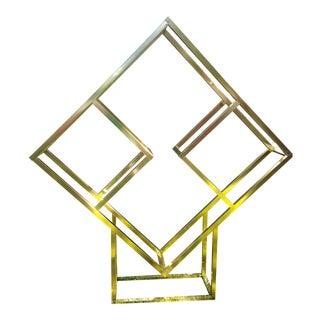 Milo Baughman Brass Diamond Shape Étagère
