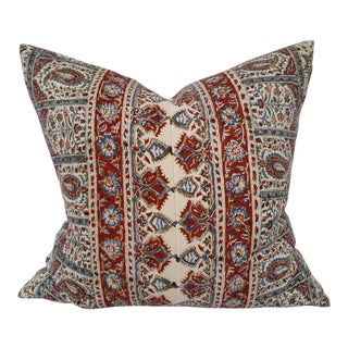 Persian Hand Block Printed Linen Pillow