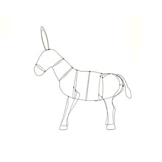 Wire Donkey Sculpture