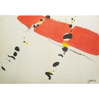 Jean Capdeville-Derriere le Miroir-1965 Lithograph