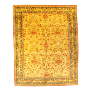 Pasargad N Y Fine Savonnerie Style Canary Yellow Rug - 8′ × 10′