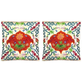 Uzbek Suzani Pillows - Pair