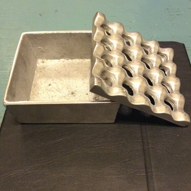Recycled Metal Sculptural Ashtray - Image 3 of 4