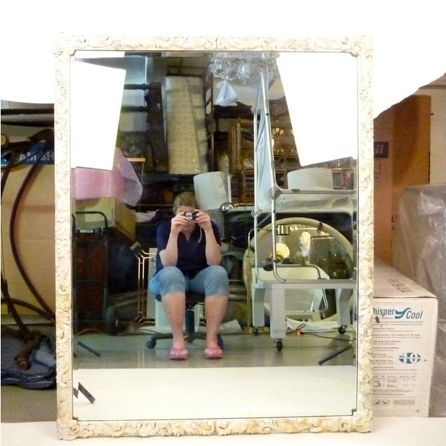 Shabby Chic Hand-Carved Mirror - Image 2 of 9