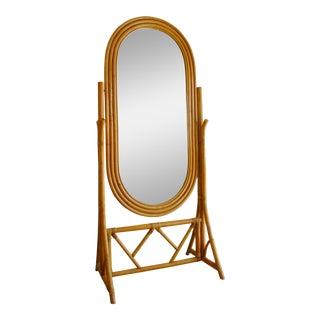 Rattan Cheval Mirror