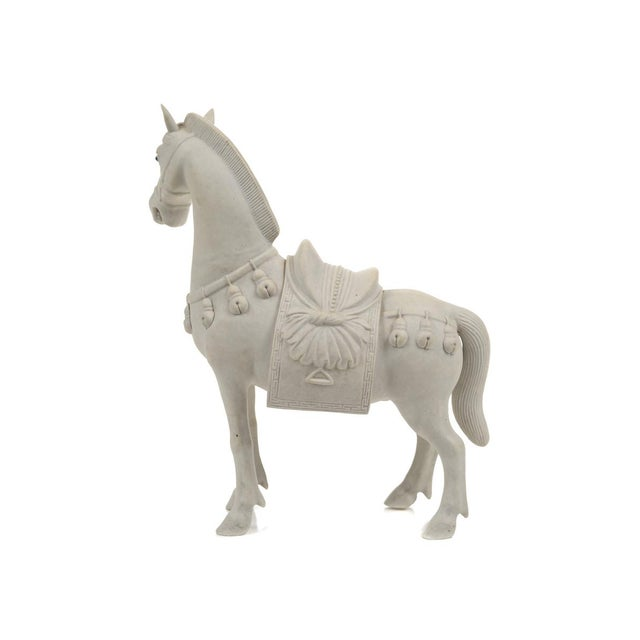 Image of Rare Chinese Bisque Porcelain Horse Figurines - 2
