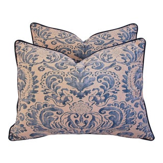 Italian Fortuny Corone Pillows - Pair
