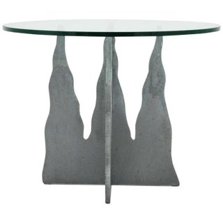 Pucci De Rossi Steel And Glass End Side Table