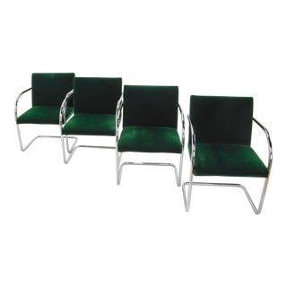 Mies Van Der Rohe Mid-Century Tubular Brno Chairs - Set of 4