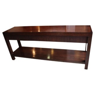 Solid Wood 3-Drawer Mahogany Console Table