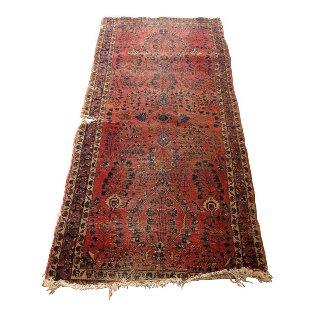"""Vintage Red Persian Rug - 2' 7"""" x 5' 10"""" - Image 1 of 5"""