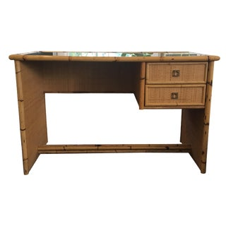 Dal Vera Vintage Bamboo and Rattan Desk