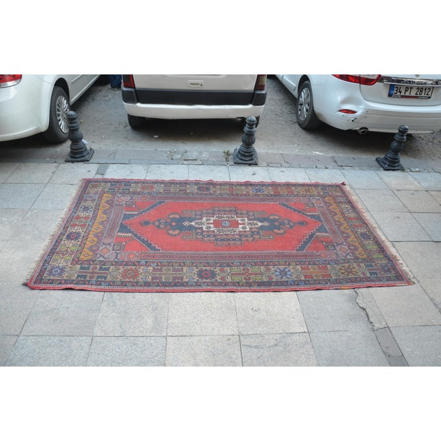 Turkish Handmade Floor Rug - 4′5″ × 8′3″ - Image 4 of 6