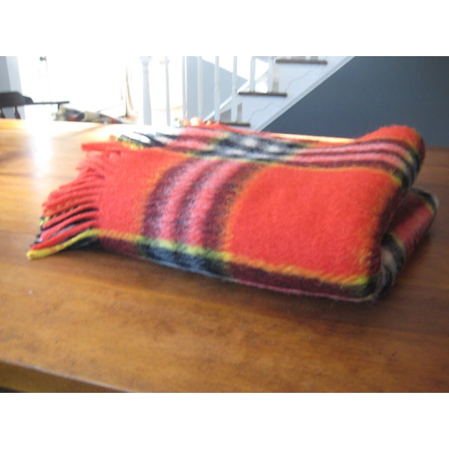 Red Plaid Arno Wool Camp Blanket - Image 4 of 6