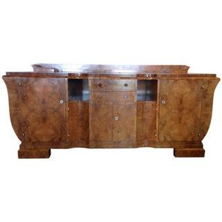 Antique French Burled Walnut Art Deco Buffet