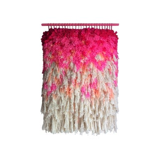 Furry Electric Cherry Fields Woven Wall Hanging