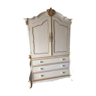 Dutch Style Painted Linen Press