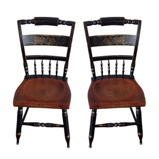 Antique Hitchcock Dining Chairs - A Pair