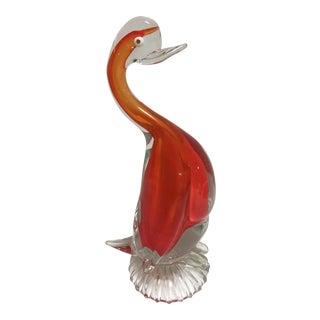 Mid-Century Murano Glass Duck