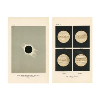 Antique 1880s Astronomy Prints - A Pair