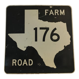 Vintage Texas Farm Road Sign