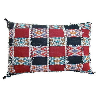 Diamonds & Stripes Moroccan Pillow