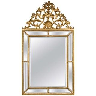Italian Palatial Gilt Wall Console Mirror