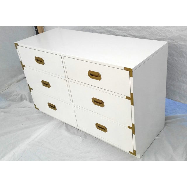 Lacquered Vintage Dixie Campaign Dresser - Image 4 of 8